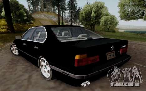 BMW 540i (E34) para GTA San Andreas vista traseira