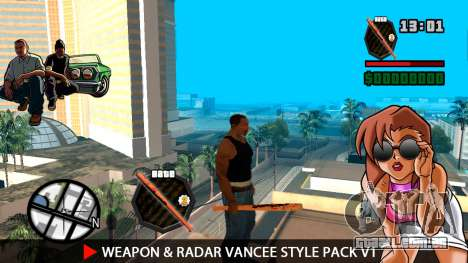 Arma & Radar VanCee Estilo Pack v1 para GTA San Andreas terceira tela