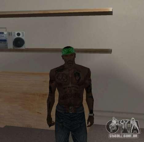 Novas bandanas, por CJ para GTA San Andreas