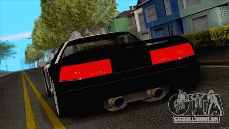 Infernus Police para GTA San Andreas traseira esquerda vista