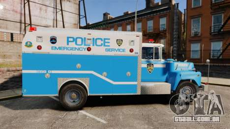 Mack R Bronx 1993 NYPD Emergency Service [ELS] para GTA 4 esquerda vista