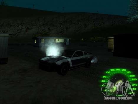 O velocímetro no estilo de neon para GTA San Andreas terceira tela