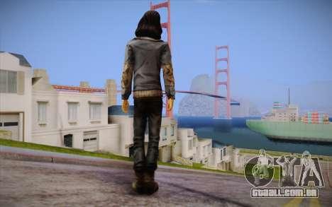 Sarah из The Walking Dead para GTA San Andreas segunda tela