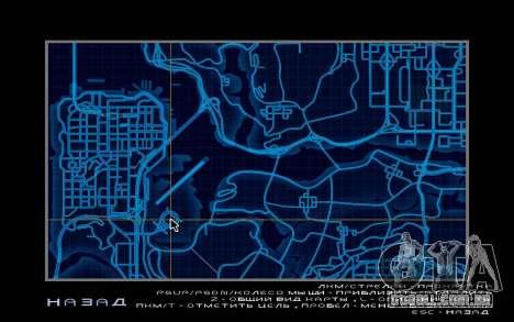 Mapa estilo de need For Speed World para GTA San Andreas por diante tela