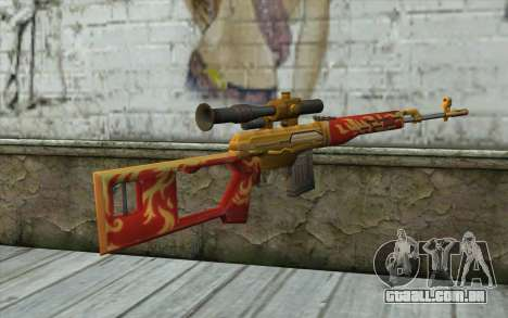 A Dragunov Sniper Rifle (Point Blank) para GTA San Andreas segunda tela
