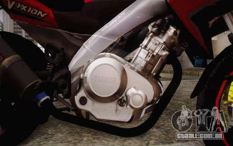 Yamaha V-Ixion 2014 para GTA San Andreas vista direita