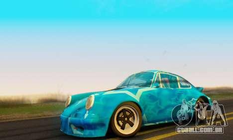 Porsche 911 Blue Star para GTA San Andreas traseira esquerda vista
