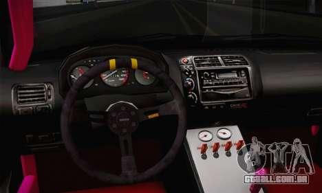 Honda Civic EK9 2000 Hellflush para GTA San Andreas vista direita