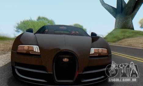 Bugatti Veyron Super Sport 2011 para GTA San Andreas vista interior