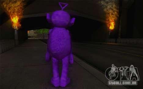 Carcaça roughcast-Winky dos Teletubbies para GTA San Andreas segunda tela