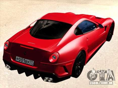 Ferrari 599 GTO para GTA San Andreas vista direita