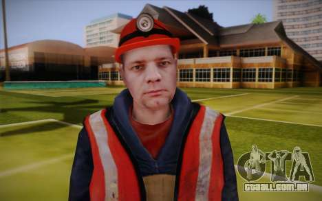 Trabalhador de estrada para GTA San Andreas terceira tela