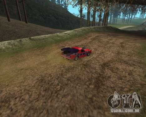 Rocket Picador GT para GTA San Andreas traseira esquerda vista