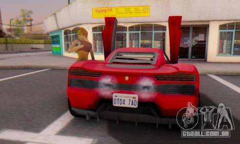 Pegassi Vacca para GTA San Andreas vista traseira