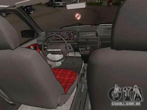 VAZ-21093 para GTA San Andreas vista interior