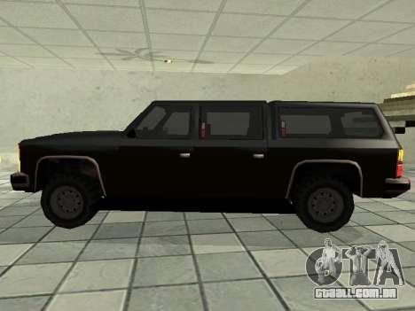 SWAT Original Cruiser para GTA San Andreas esquerda vista