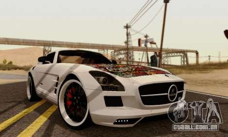 Mercedes SLS AMG Hamann 2010 Metal Style para GTA San Andreas traseira esquerda vista
