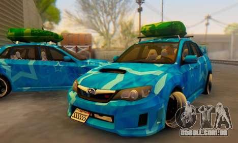 Subaru Impreza Blue Star para GTA San Andreas interior