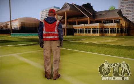 Trabalhador de estrada para GTA San Andreas segunda tela