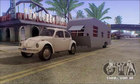 A Caravana Trailer para GTA San Andreas traseira esquerda vista