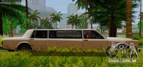 Greenwood Limousine para GTA San Andreas esquerda vista