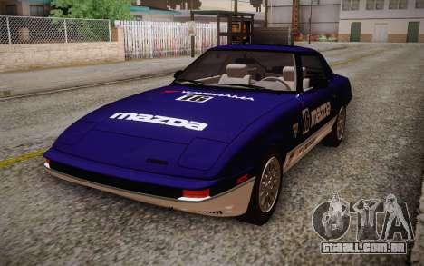 Mazda RX-7 GSL-SE 1985 HQLM para GTA San Andreas vista direita