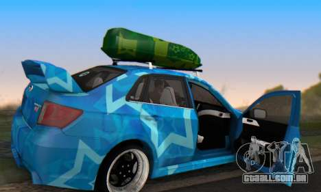 Subaru Impreza Blue Star para GTA San Andreas vista superior