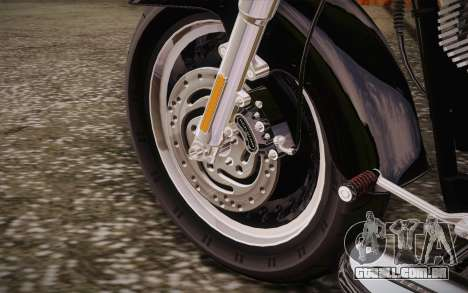 Harley-Davidson Fat Boy Lo 2010 para GTA San Andreas vista interior