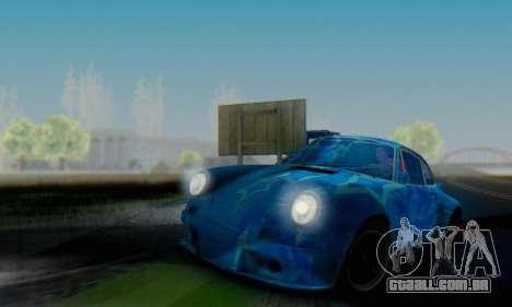 Porsche 911 Blue Star para GTA San Andreas vista traseira