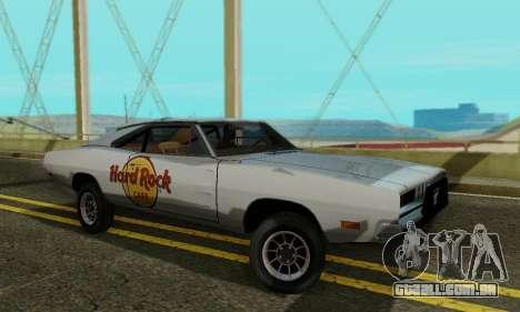 Dodge Charger 1969 Hard Rock Cafe para GTA San Andreas esquerda vista