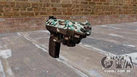 Arma FN Cinco sete LAM Aqua Camo para GTA 4