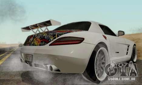 Mercedes SLS AMG Hamann 2010 Metal Style para GTA San Andreas vista traseira