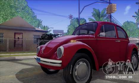 1973 Volkswagen Beetle para GTA San Andreas vista interior