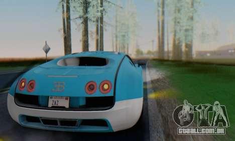 Bugatti Veyron Super Sport 2011 para GTA San Andreas vista superior
