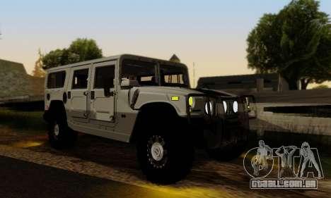 Hummer H1 Alpha para GTA San Andreas vista interior