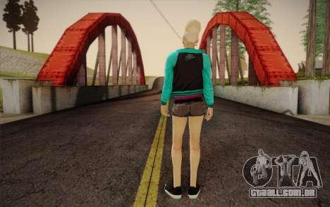 Menina bonita para GTA San Andreas segunda tela