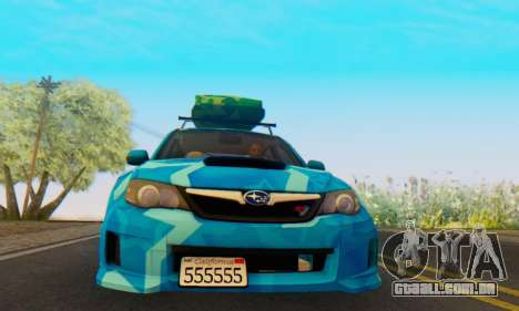 Subaru Impreza Blue Star para GTA San Andreas esquerda vista