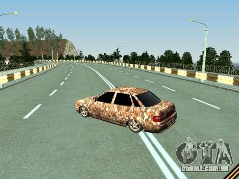 VAZ 2110 camuflagem para GTA San Andreas traseira esquerda vista