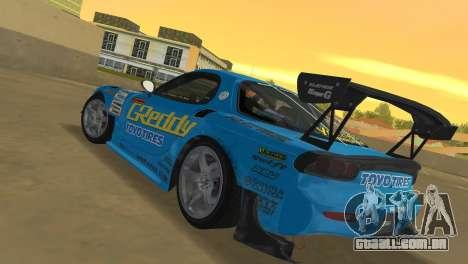 Mazda RX7 FD3S RE Amamiya G-Reddy para GTA Vice City vista traseira esquerda