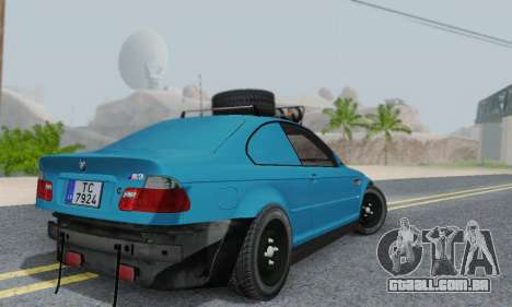 BMW M3 E46 Offroad Version para GTA San Andreas vista traseira