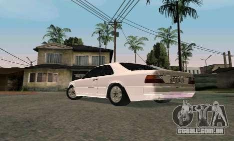 Mercedes-Benz W124 Coupe para GTA San Andreas traseira esquerda vista