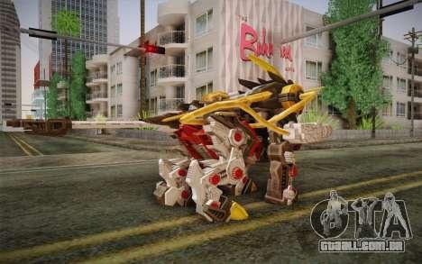 Energy Liger from Zoids para GTA San Andreas segunda tela