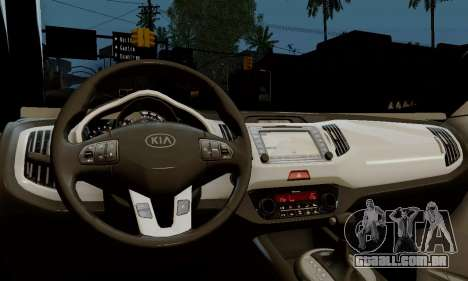 Kia Optima Stock para GTA San Andreas vista direita