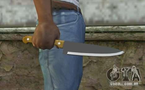 Faca de cozinha para GTA San Andreas terceira tela