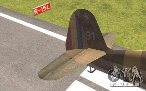 IAR 80 - Romania No 91 para GTA San Andreas traseira esquerda vista