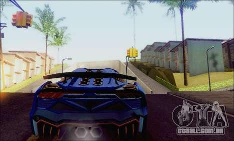 Zentorno GTA 5 V.1 para GTA San Andreas traseira esquerda vista