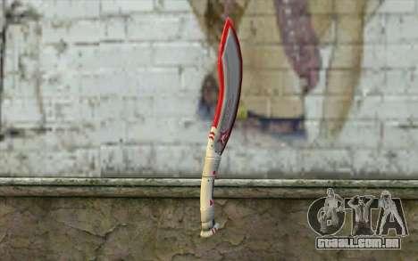 Fangblade Garena Star League from Point Blank para GTA San Andreas segunda tela