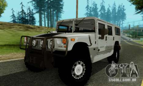 Hummer H1 Alpha para GTA San Andreas vista superior