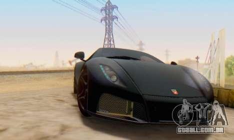 GTA Spano 2014 IVF para GTA San Andreas traseira esquerda vista