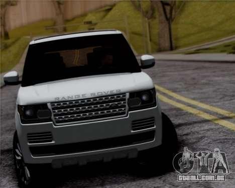 Range Rover Vogue 2014 para GTA San Andreas vista traseira